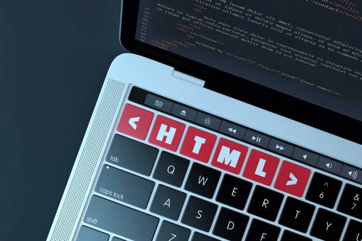 Imagem com teclas HTML